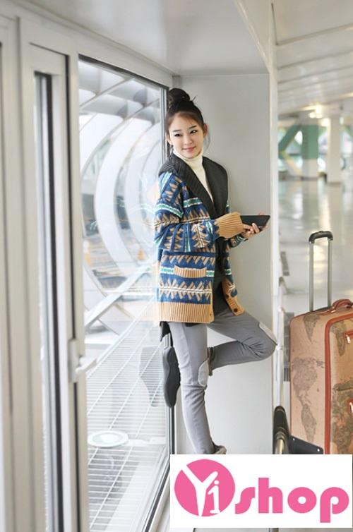 Áo khoác len nữ dày đẹp ấm áp không lạnh thu đông 2021 - 2022