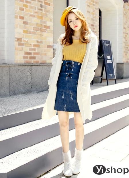 Áo khoác len nữ đẹp - trang phục đặc trưng không thể thiếu ngày đông 2021 - 2022 phần 10