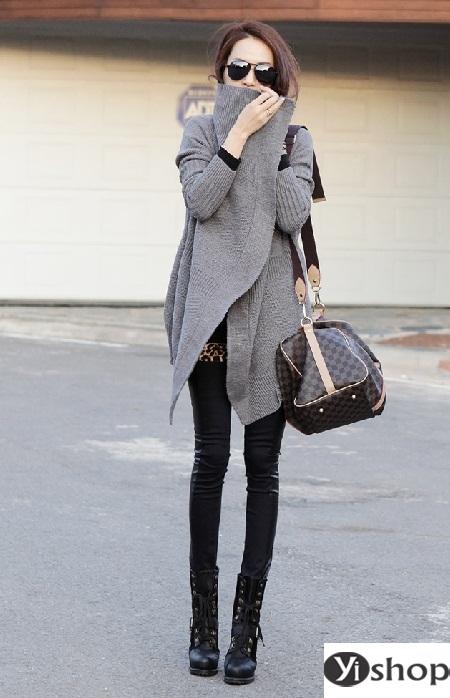 Áo khoác len nữ đẹp - trang phục đặc trưng không thể thiếu ngày đông 2021 - 2022 phần 4