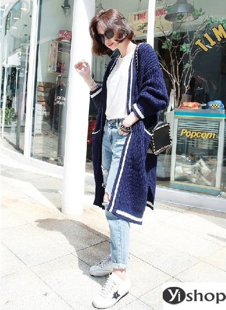 Áo khoác len nữ đẹp - trang phục đặc trưng không thể thiếu ngày đông 2021 - 2022 phần 5