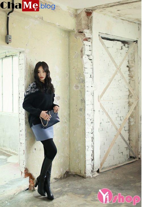 Áo khoác len nữ Hàn Quốc đẹp cho cô nàng teengirl đông 2021 - 2022