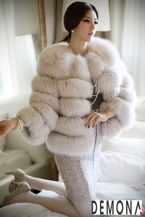 Áo khoác lông dạ hội nữ đẹp thu đông 2019 – 2021 sang trọng quý phái phần 10