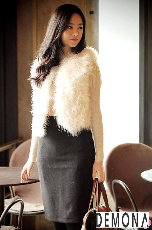 Áo khoác lông dạ hội nữ đẹp thu đông 2019 – 2021 sang trọng quý phái phần 5