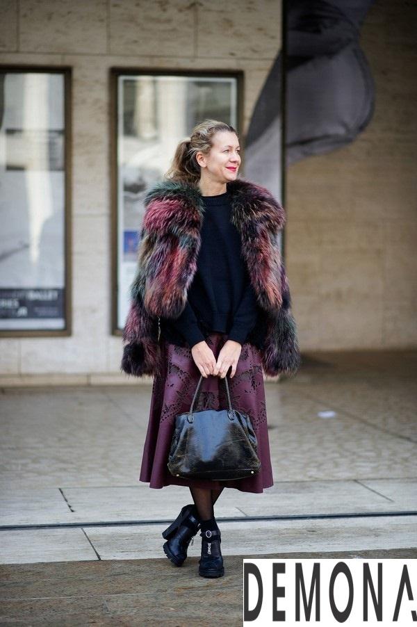 Áo khoác lông form dài nữ đẹp thời trang công sở thu đông 2021 – 2022 phần 12