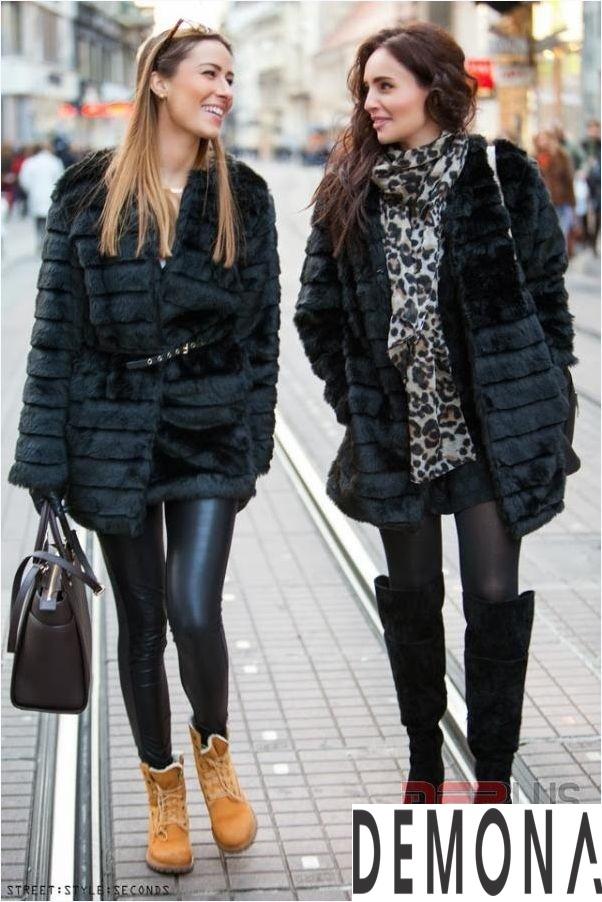 Áo khoác lông form dài nữ đẹp thời trang công sở thu đông 2021 – 2022 phần 5