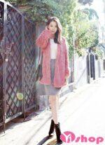 Áo khoác lông nữ dáng lửng đẹp phong cách công sở sành điệu thu đông 2021 – 2022