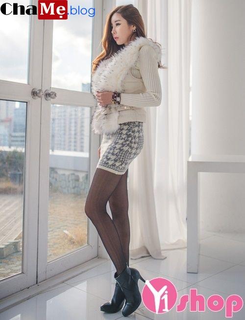 Áo khoác lông nữ dáng ngắn đẹp duyên dáng dạo phố đông 2021 - 2022