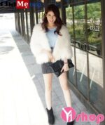 Áo khoác lông nữ đẹp Hàn Quốc đông 2021 – 2022 đa phong cách ngày lạnh