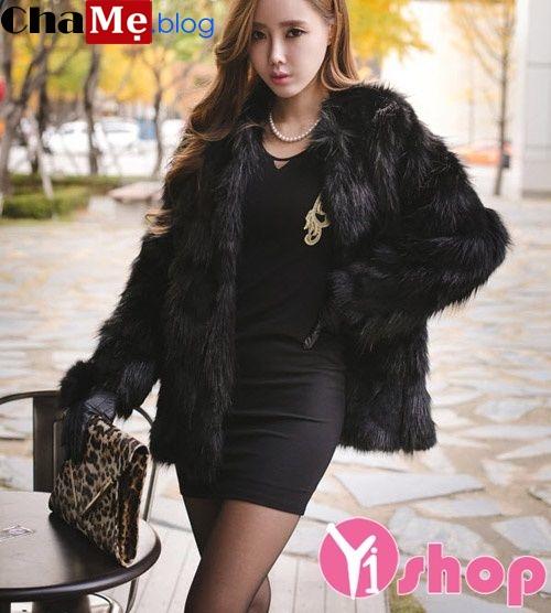 Áo khoác lông nữ đẹp Hàn Quốc đông 2021 - 2022 đa phong cách ngày lạnh