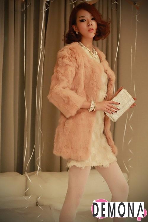 Áo khoác lông nữ dáng ngắn đẹp kiểu hàn quốc ấm áp dạo phố đông 2019 – 2021 phần 10