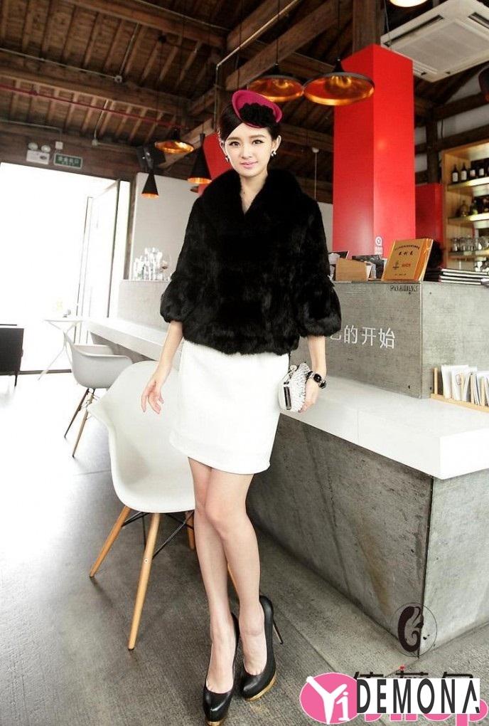 Áo khoác lông nữ dáng ngắn đẹp kiểu hàn quốc ấm áp dạo phố đông 2019 – 2021 phần 11