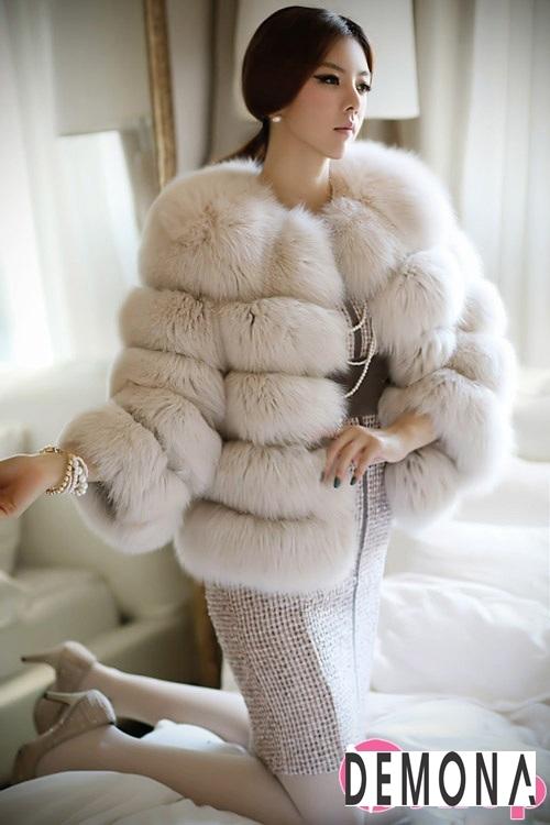 Áo khoác lông nữ dáng ngắn đẹp kiểu hàn quốc ấm áp dạo phố đông 2019 – 2021 phần 12
