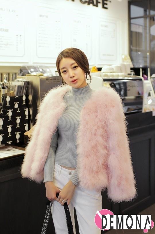 Áo khoác lông nữ dáng ngắn đẹp kiểu hàn quốc ấm áp dạo phố đông 2019 – 2021 phần 2