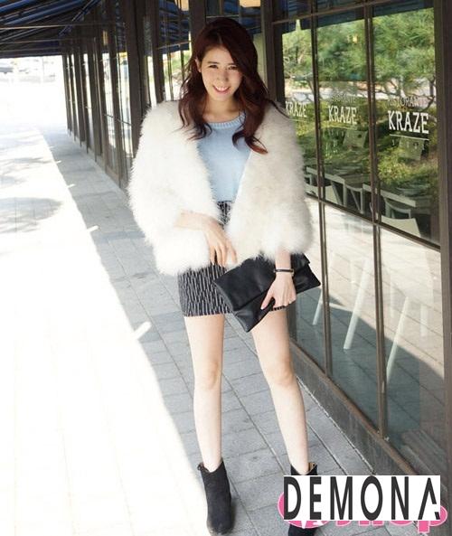 Áo khoác lông nữ dáng ngắn đẹp kiểu hàn quốc ấm áp dạo phố đông 2019 – 2021 phần 3