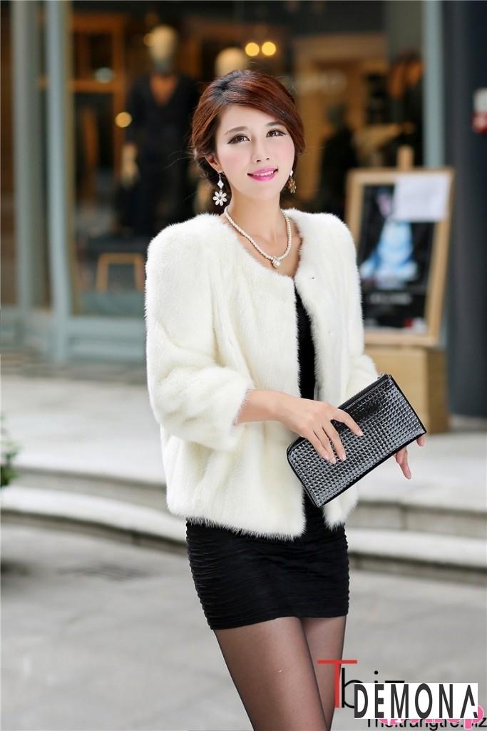 Áo khoác lông nữ dáng ngắn đẹp kiểu hàn quốc ấm áp dạo phố đông 2019 – 2021 phần 4