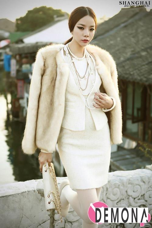 Áo khoác lông nữ dáng ngắn đẹp kiểu hàn quốc ấm áp dạo phố đông 2019 – 2021 phần 8