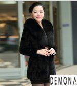Áo khoác lông nữ đen đẹp quyến rũ chống rét thu đông 2021 – 2022