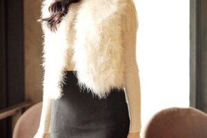 Áo khoác lông nữ đẹp kiểu hàn quốc hot nhất thu đông 2021 – 2022