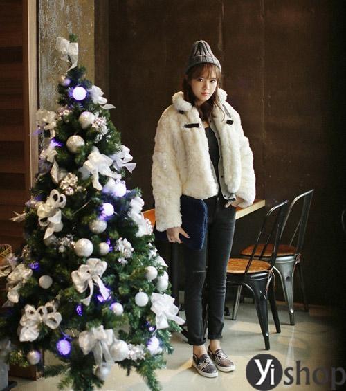 Áo khoác lông nữ đẹp nhất đông 2021 - 2022 không bao giờ lỗi mốt phần 3