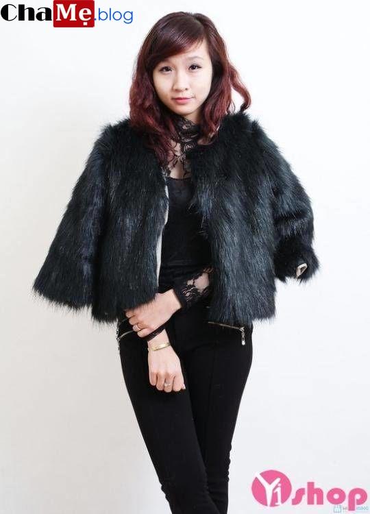 Áo khoác lông nữ đẹp thời trang hàn quốc ấm áp thu đông 2019 - 2019