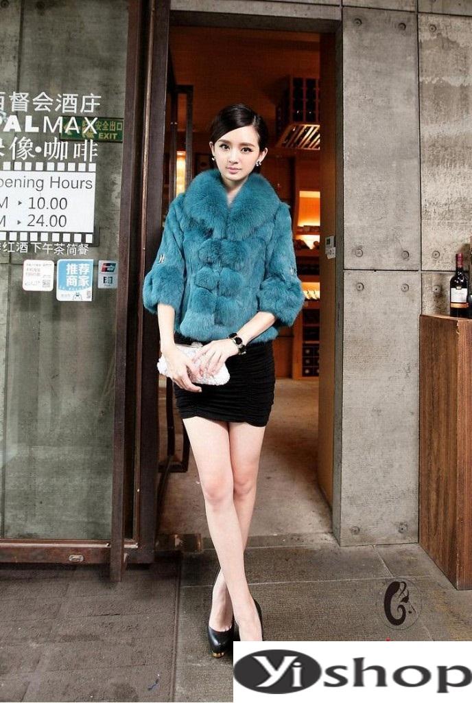 Áo khoác lông nữ đẹp thu đông 2021 - 2022 thời trang công sở ngày se lạnh phần 10