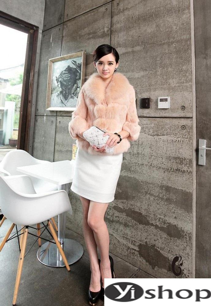 Áo khoác lông nữ đẹp thu đông 2021 - 2022 thời trang công sở ngày se lạnh phần 11