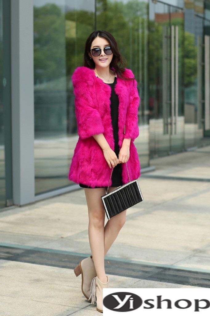 Áo khoác lông nữ đẹp thu đông 2021 - 2022 thời trang công sở ngày se lạnh phần 14