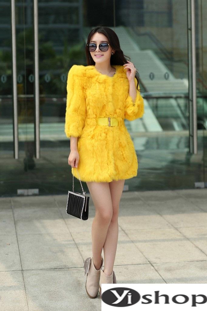Áo khoác lông nữ đẹp thu đông 2021 - 2022 thời trang công sở ngày se lạnh phần 15