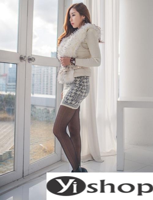 Áo khoác lông nữ đẹp thu đông 2021 - 2022 thời trang công sở ngày se lạnh phần 5