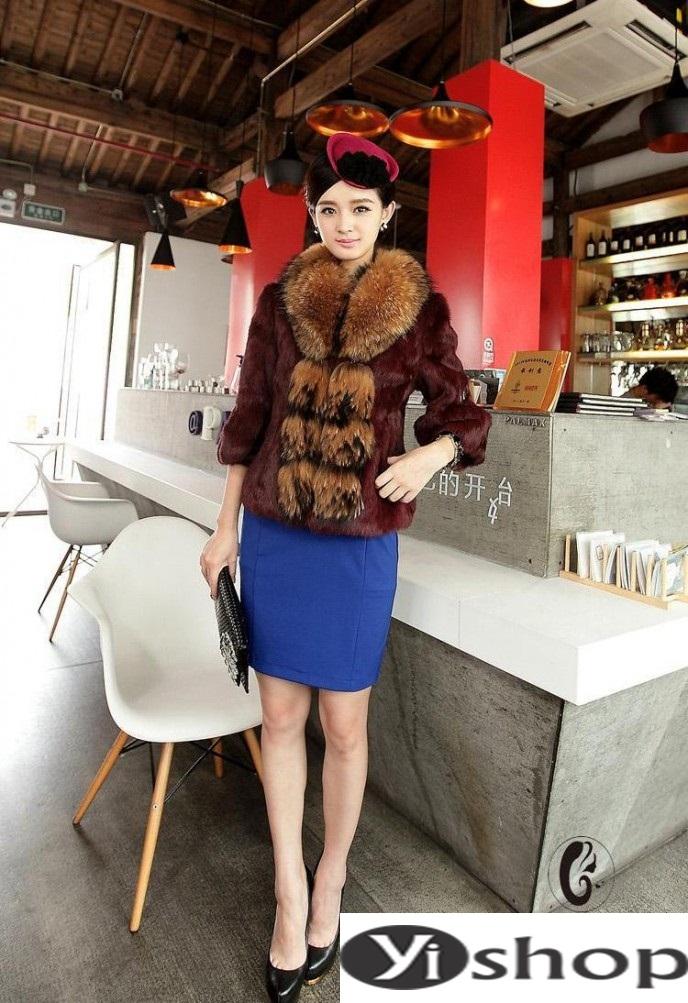 Áo khoác lông nữ đẹp thu đông 2021 - 2022 thời trang công sở ngày se lạnh phần 6
