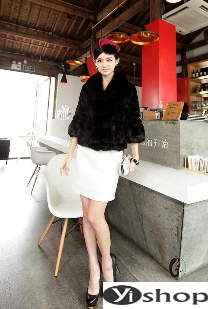Áo khoác lông nữ đẹp thu đông 2021 - 2022 thời trang công sở ngày se lạnh phần 9