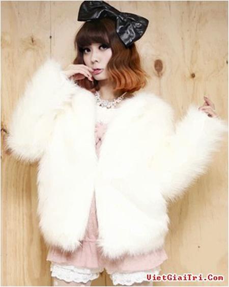 Áo khoác lông nữ Hàn Quốc đẹp cho nàng cao gầy thêm ấm áp ngày lạnh