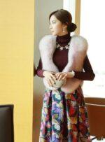 Áo khoác lông nữ hàn quốc đẹp sang chảnh dự tiệc thu đông 2021 – 2022