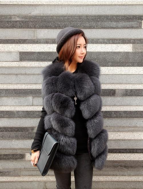 Áo khoác lông nữ hàn quốc đẹp sang chảnh dự tiệc thu đông 2021 - 2022 phần 11