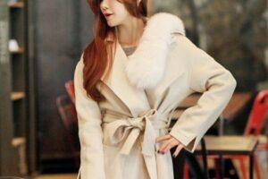 Áo khoác lông nữ Hàn Quốc đẹp sang trọng nổi bật thu đông 2021 – 2022