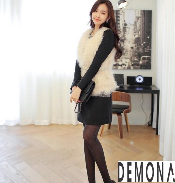 Áo khoác lông nữ kiểu gile đẹp sành điệu không lạnh thu đông 2021– 2021phần 5