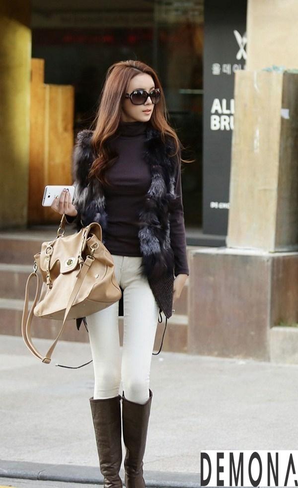 Áo khoác lông nữ kiểu gile đẹp sành điệu không lạnh thu đông 2021– 2021phần 7