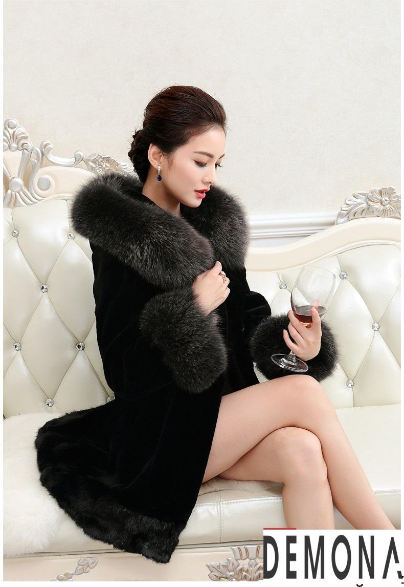 Áo khoác lông nữ màu đen đẹp kiểu hàn quốc thu đông 2021 – 2022phần 1