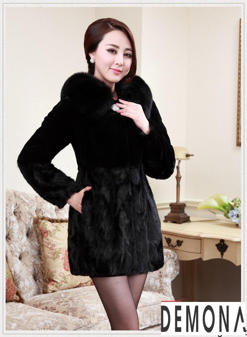 Áo khoác lông nữ màu đen đẹp kiểu hàn quốc thu đông 2021 – 2022phần 10