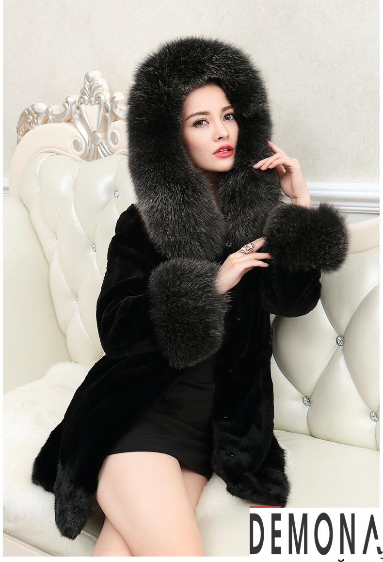 Áo khoác lông nữ màu đen đẹp kiểu hàn quốc thu đông 2021 – 2022phần 11