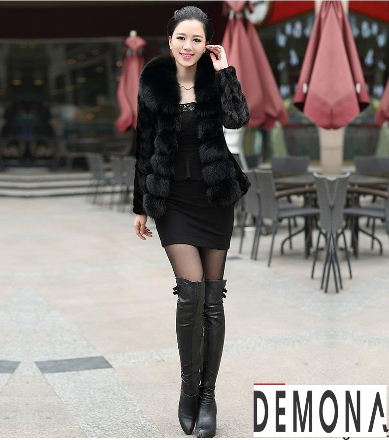 Áo khoác lông nữ màu đen đẹp kiểu hàn quốc thu đông 2021 – 2022phần 12