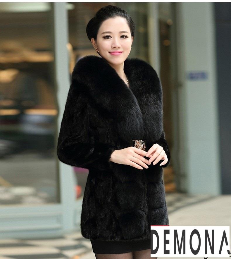 Áo khoác lông nữ màu đen đẹp kiểu hàn quốc thu đông 2021 – 2022phần 2