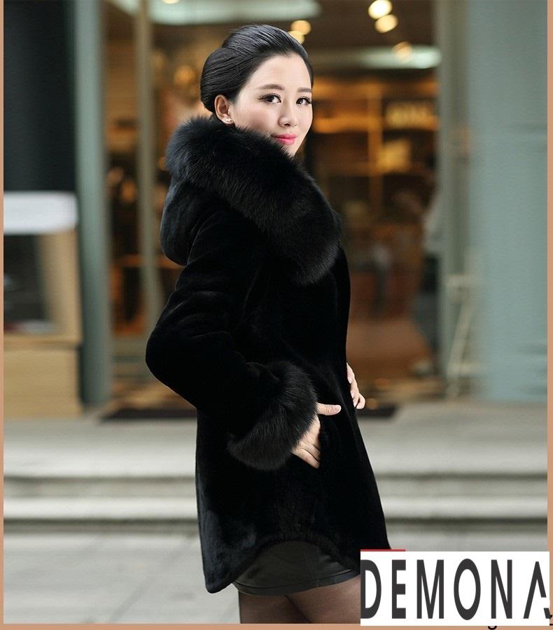 Áo khoác lông nữ màu đen đẹp kiểu hàn quốc thu đông 2021 – 2022phần 4