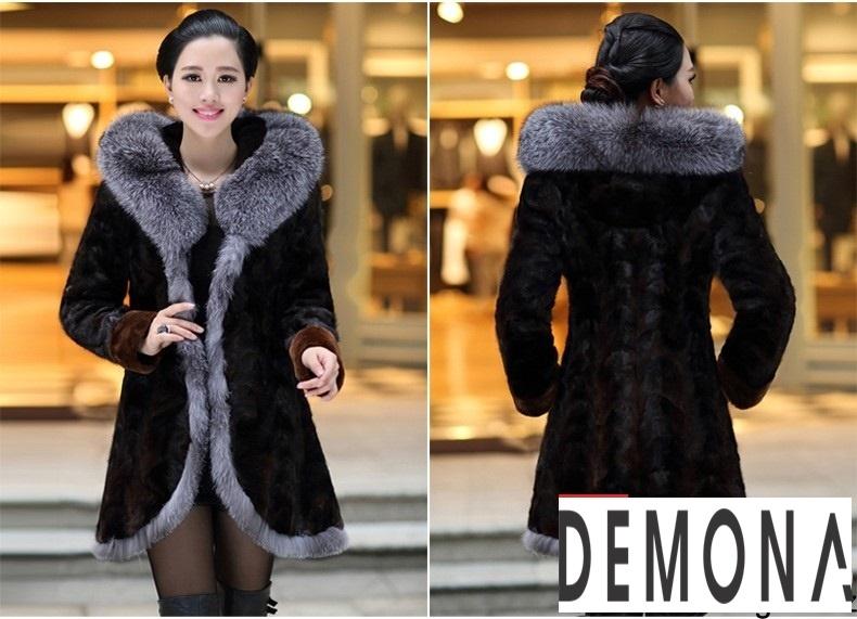 Áo khoác lông nữ màu đen đẹp kiểu hàn quốc thu đông 2021 – 2022phần 5