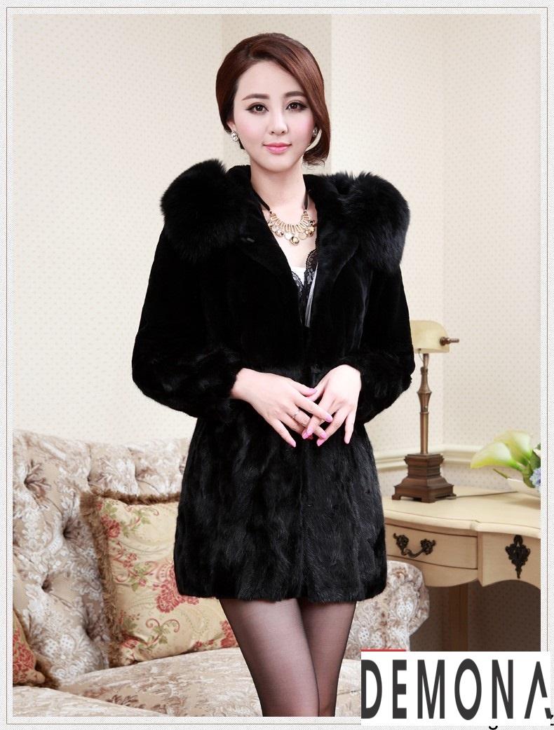Áo khoác lông nữ màu đen đẹp kiểu hàn quốc thu đông 2021 – 2022phần 6