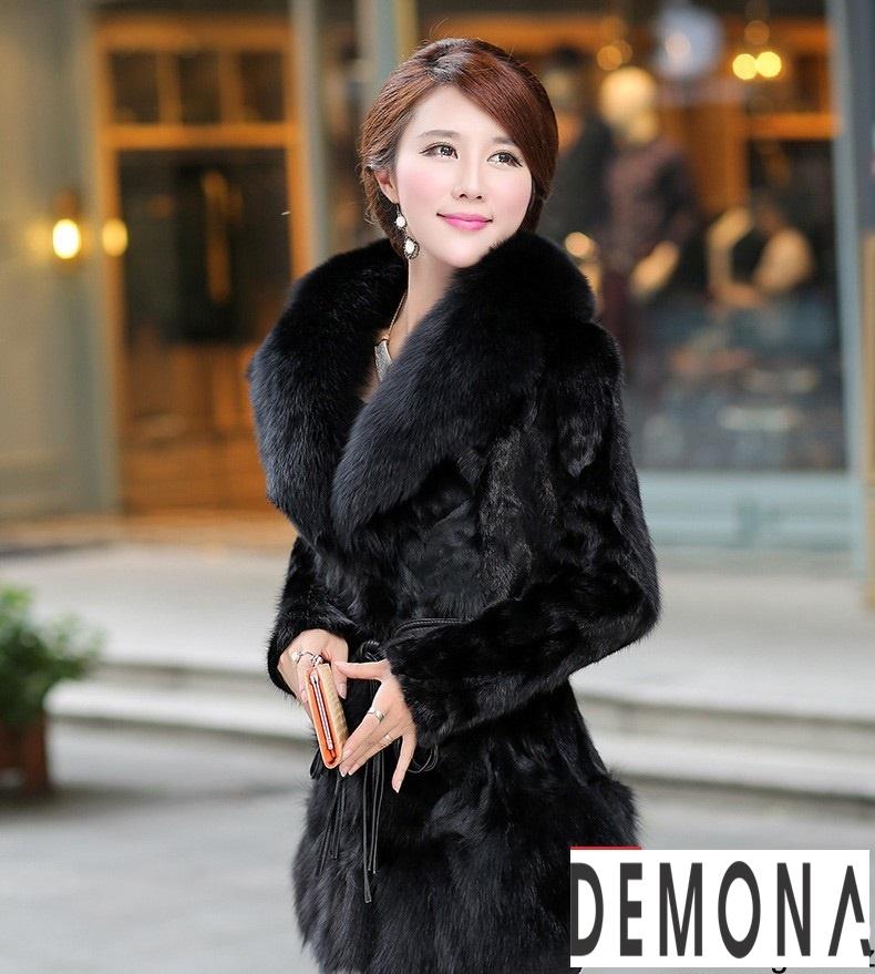 Áo khoác lông nữ màu đen đẹp kiểu hàn quốc thu đông 2021 – 2022phần 7