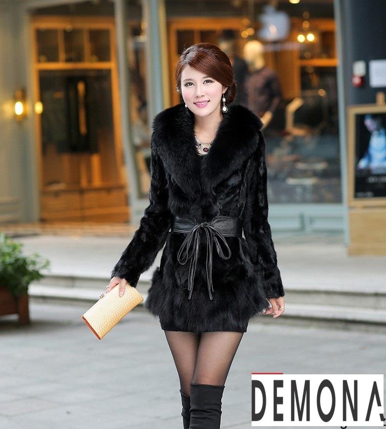 Áo khoác lông nữ màu đen đẹp kiểu hàn quốc thu đông 2021 – 2022phần 8