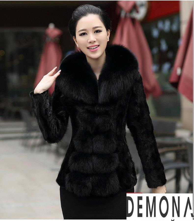 Áo khoác lông nữ màu đen đẹp kiểu hàn quốc thu đông 2021 – 2022phần 9