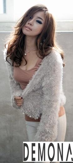 Áo khoác lông nữ màu loang đẹp duyên dáng ấm áp thu đông 2019 – 2021 phần 10