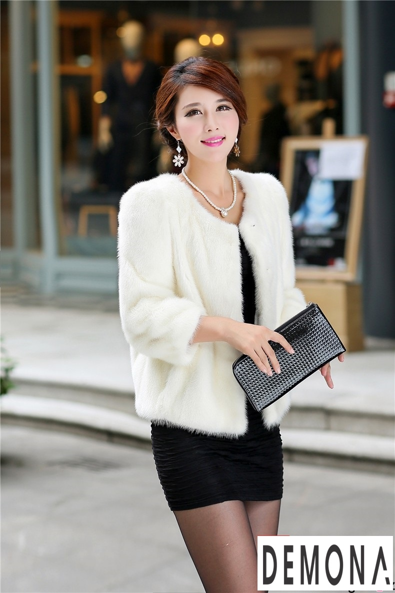Áo khoác lông nữ màu trắng công sở đẹp thu đông 2019 – 2021 ấm áp phần 1